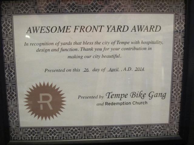 Garden Guru AZ Front Yard Award